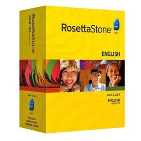 Rosetta Stone English (American) Level 1, 2, 3, 4, 5 Set Key
